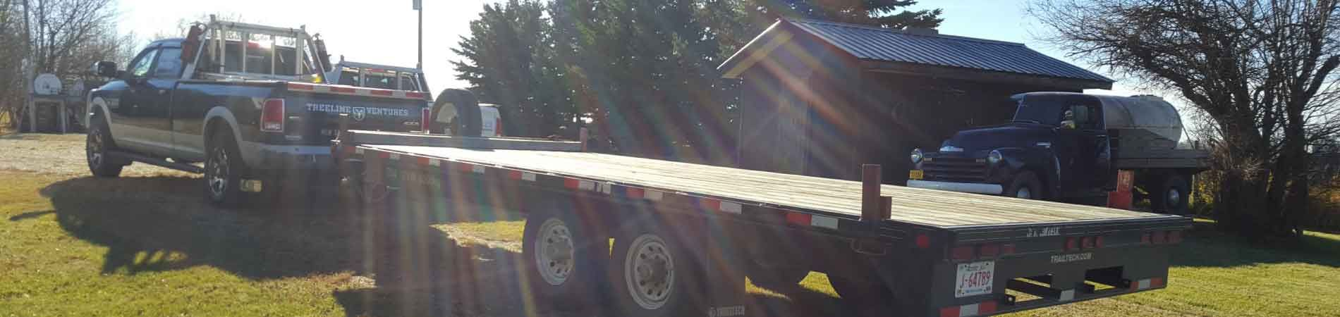Large trailer bed for rent